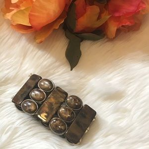 Jewelry - Brown Marble Design with Gold Hardware Bracelet